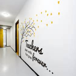 beautiful vinyl wall for teachers and schools save