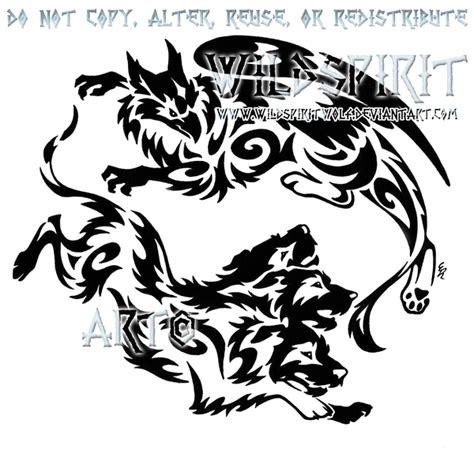 gryphon and cerberus tribal design by wildspiritwolf on