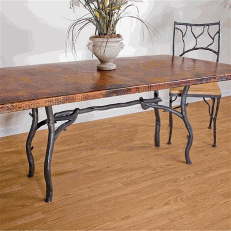 greylock copper top dining table by mathews company mathews company south fork dining table w top 70253a