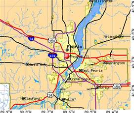 east peoria il map