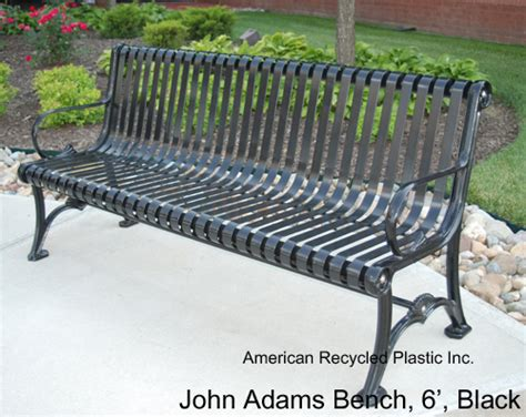adams bench john adams bench 6 ft american recycled plastic quality outdoor furniture site