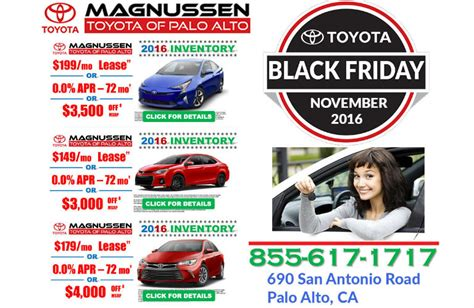 Toyota Black Friday Deals Does Toyota Palo Alto A Black Friday Sales Event