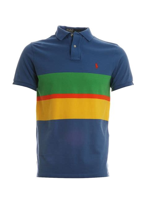 polo shirt design maker uk polo ralph lauren striped design polo t shirt in blue