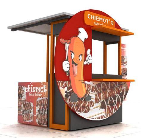 design gerobak usaha both sosis menetap jasa pembuatan gerobak desain gerobak