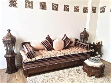 luxurious moroccan sofa bench daybed  seater couch