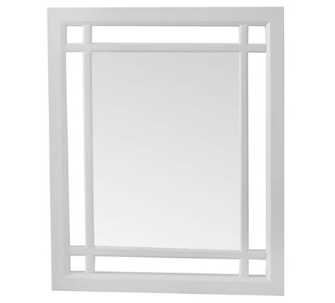beautiful white framed neal mirror