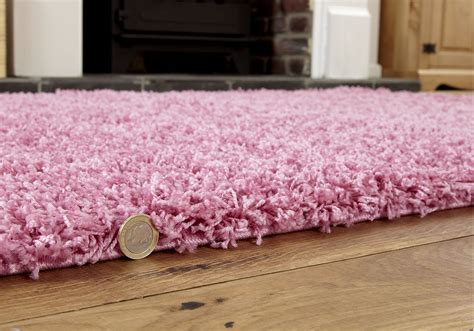 small pink rug new x large large medium small pink modern thick 5cm high pile shaggy rugs