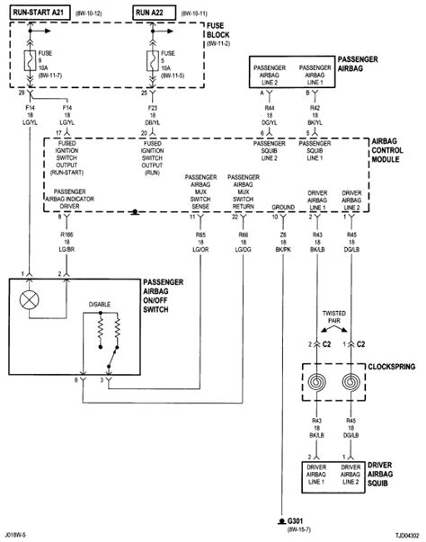 2001 Jeep Wrangler Wiring Diagram Need A Wiring Diagram Forair Bag Circuit For A Jeep