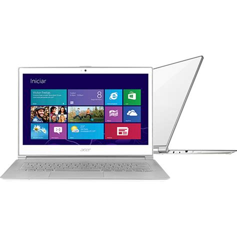 Laptop Acer Slim Aspire S7 391 ultrabook acer s7 391 6677 intel i5 4gb 128gb led 13 3 quot windows 8 branco americanas