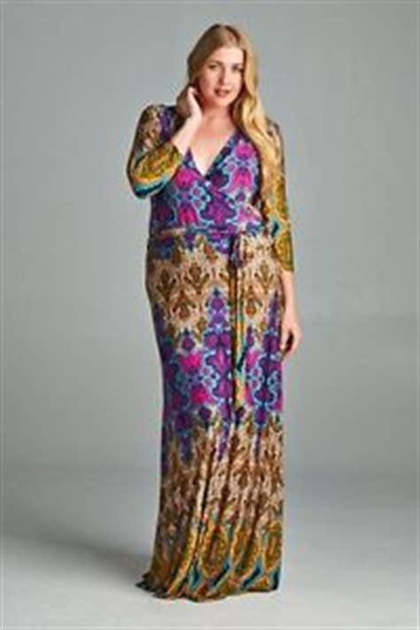 Bohemian Dress 1x new plus size tua multi bohemian empire waist 3 4 sleeve