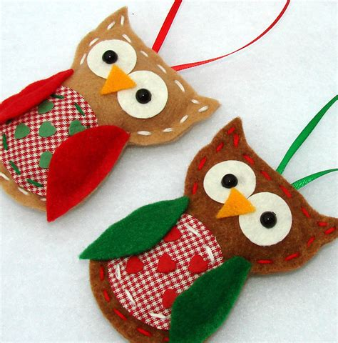 felt owl ornaments christmas felt owl ornaments