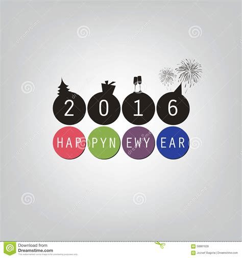 Free New Year Card Template 2016 by Best Wishes Modern Simple Minimal Happy New Year Card Or