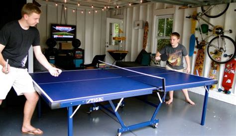 ping pong table in garage picture garage rec room ping pong table