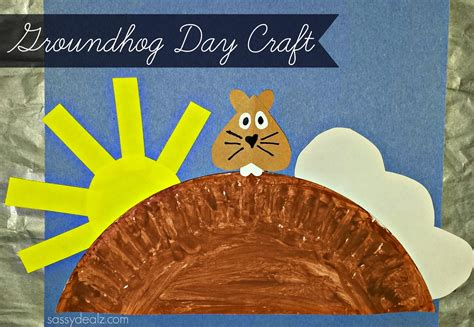 groundhog day morning groundhog day craft for paper plate crafty morning