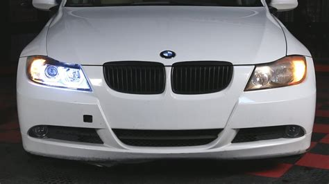 bmw e90 headlights spyder auto installation 2006 2008 bmw e90 projector
