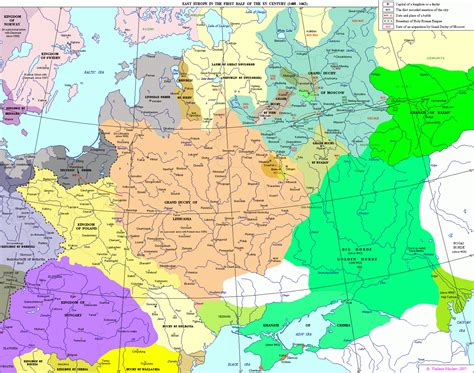 europe 15th century map the history of russia