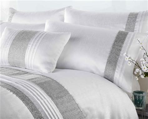 Bedcover Set Uk Kingsize 4 new luxury diamante bedding duvet cover bed sets lined