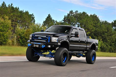 truck ford knockout a black n blue 2002 ford f 250 7 3l