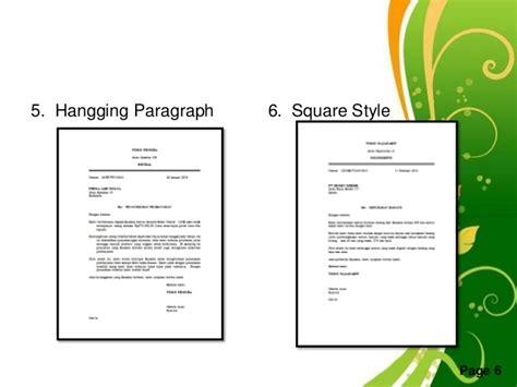 Indented Style Surat Niaga by Tata Cara Membuat Surat Yang Baik