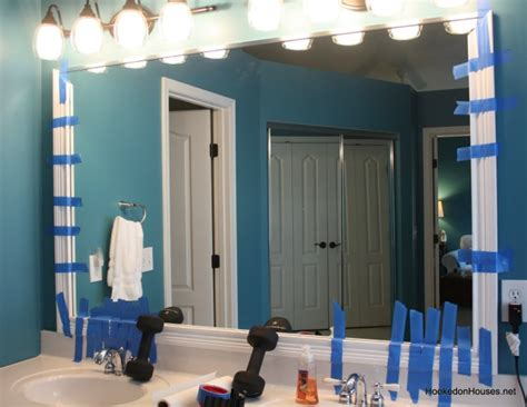 framing out a bathroom mirror framing a plate glass bathroom mirror with moldings