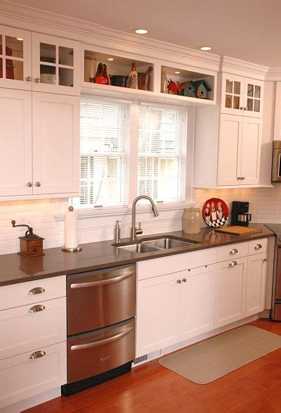 shaker style updates a straight line layout 25 best ideas about upper cabinets on pinterest kitchen