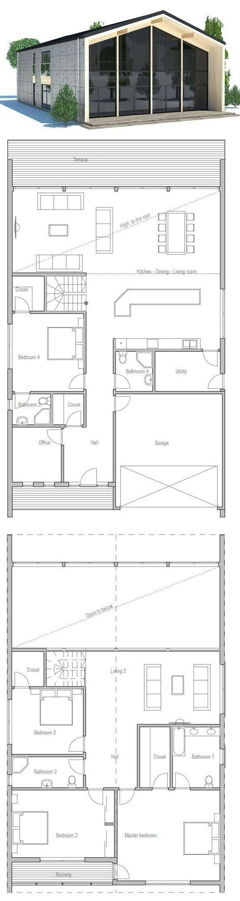 Contemporary House Plans Narrow Lot by Contemporry House To Narrow Lot Modern Architecture