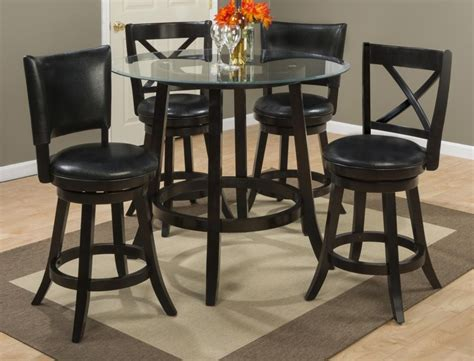 Counter Height Dining Table With Stools by Aaron Glass Top Counter Height Table With Four X Back