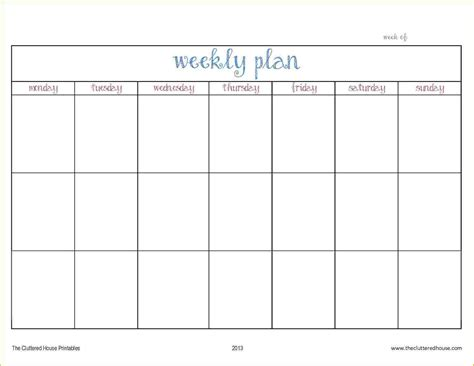 weekly planner templates 28 images free weekly