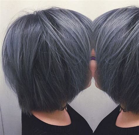 black grey hair amazing dark grey bob gray hair pinterest dark bobs
