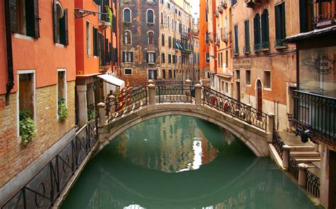 water street  venice italy widescreen wallpaper wide