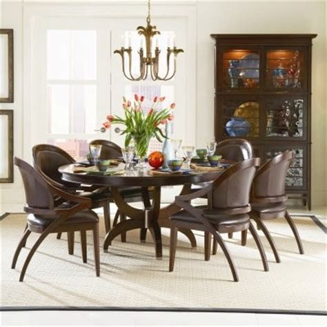 fallston 54 inch pedestal dining table set with 20