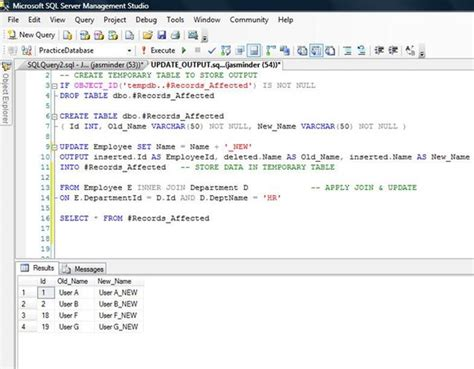 Sql Server Insert Into Temp Table by Output Clause In Sql Server