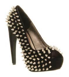 jeffrey cbell during spike high heel black suede silver