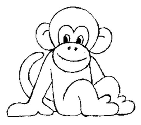 colouring monkey clipart best cartoon monkeys coloring pages clipart best
