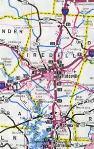 iredell county map carolina carolina