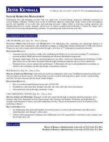 Director Resume Sles by Marketing Director Resume Getessay Biz