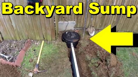 sump pump in backyard backyard sump pump water collection youtube gogo papa
