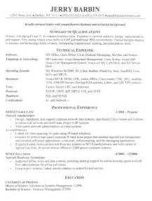 How To Write A Management Resume by It Director Resume Free Sle Information Technology Resumes