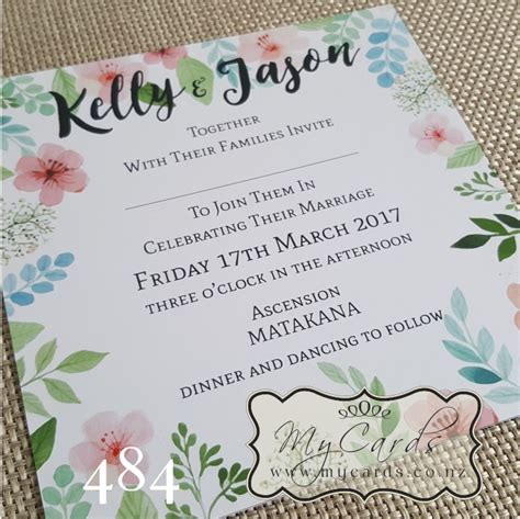 square wedding invitations watercolour flowers square wedding invitation design 484