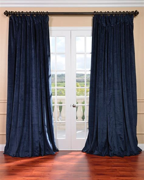 victorian curtains for sale midnight blue velvet blackout extra wide curtain panel
