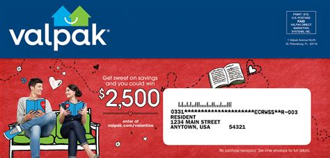 Valpak Com Sweepstakes - valpak 174 sweetheart sweepstakes offers a chance to win 2 500