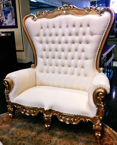 Royal Chair Rental by Gold King Throne Chair Loveseat Earlybird Chair