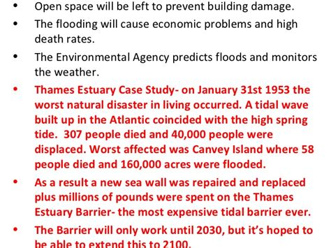 thames barrier geography case study gcse geography coasts revision