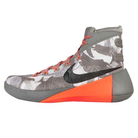 orange and grey basketball shoes nike hyperdunk 2015 prm ep grey orange camo mens