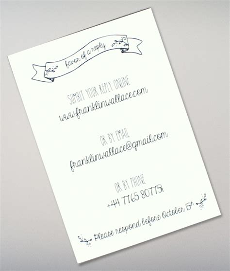 doodle wedding stationery doodle wedding rsvp card wedding rsvp