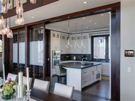 sliding doors separate kitchen from dining room hgtv