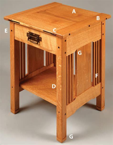 arts crafts bedside table popular woodworking magazine