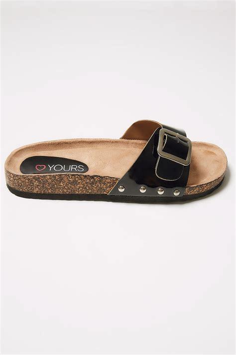 Anschreiben Rucksendung schwarz cork effekt sandalen in breiter passform 37 43