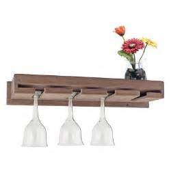 seateak wall mount wine glass rack with shelf reviews