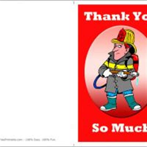 printable thank you cards for firefighters firefighter thank you card